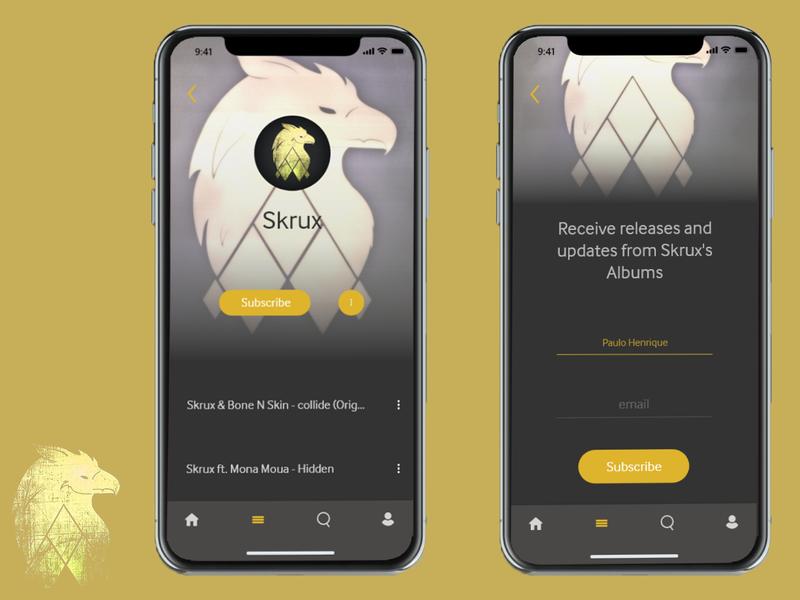 UI Design - Subscribe Screen illustration visual art music app graphic design ios app design apple apple design iphonex ios adobe xd design design app skrux user interface ui dailyui026 dailyui