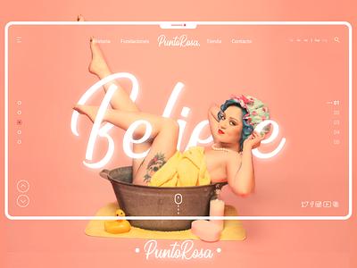 PuntoRosa web moda web design design ux user experience ui