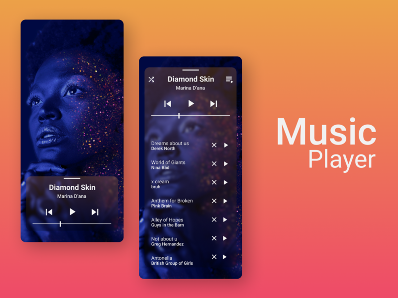 Music Player player music app design dailyui ui design