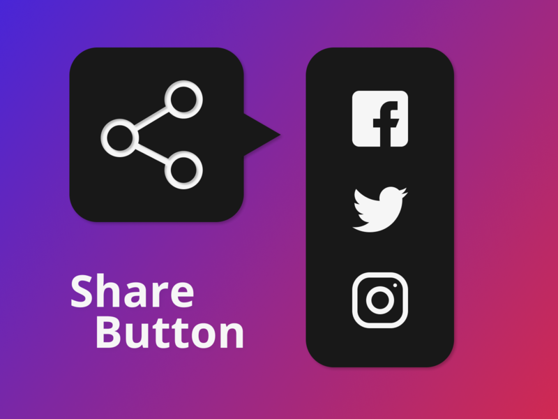 Share Button share button graphic design web design app design dailyui ui design
