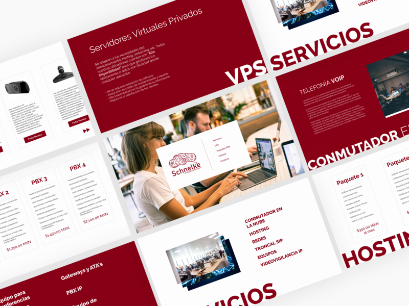 Tech Services landing page website web design design