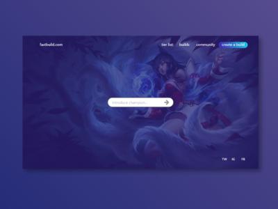 Champion Build | League of Legends esports moba videogames league of legends website design web design web