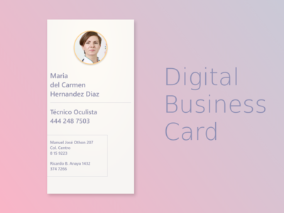 Digital Business Card business card graphic design design branding