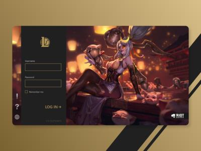 Client Log-in | League of Legends esports league of legends web design app design ui graphic design design