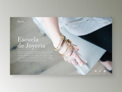 Batek | Jewellery School school jewellery landing page design web design website