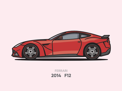 Ferrari F12 Illustration
