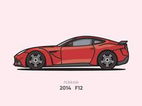 Ferrari F12 Illustration