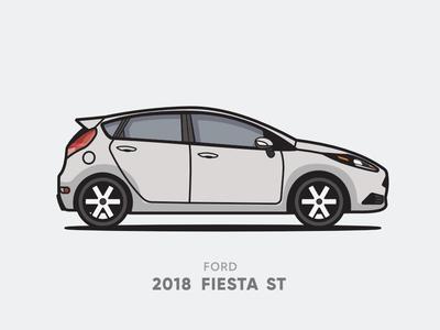 Ford 2018 Fiesta ST Illustration