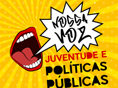 NOSSA VOZ: Youth and Public Policies causes design typography vector