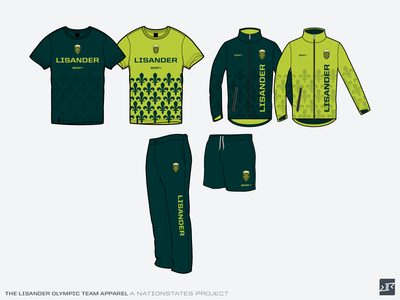The stuff with NationStates Olympics keeps coming... olympics sports apparel apparel branding design vector