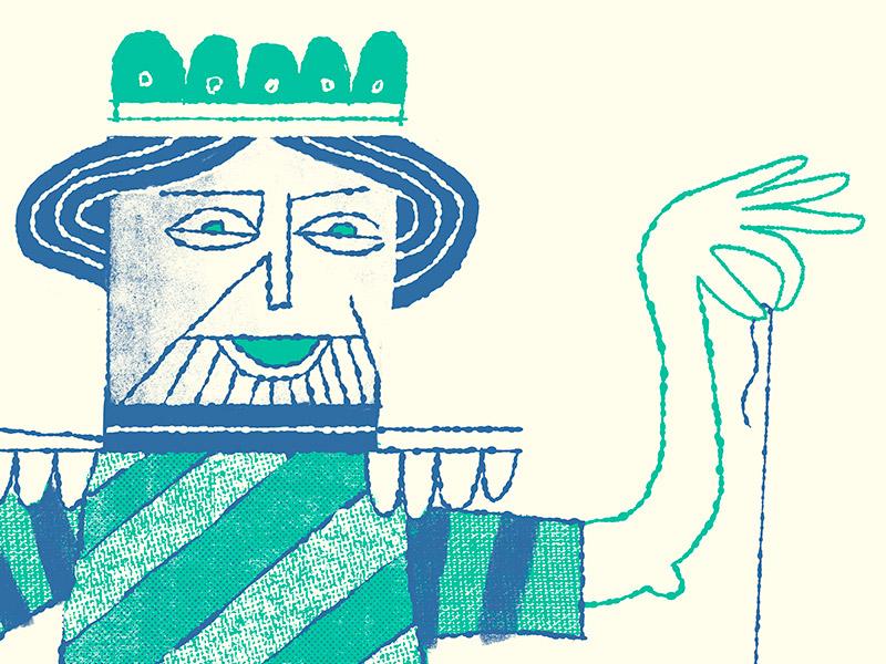 King of Pain illustration design
