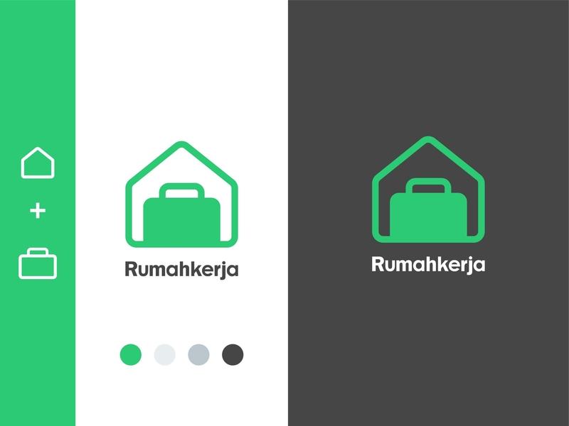 Rumahkerja Logo Design type icon vector minimal identity flat design clean branding brand logo