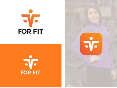 Fitness App logo online farmer market logo interior design branding design icon adobe ilustrator organic brand logo graphic deisgn adobe illustrator logo design fitness app logo
