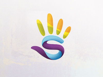 Scrivner Logo Concept creative education art children logo design mark hand paint texture kids bright swirl vector identity branding music print community connect together possible abstract