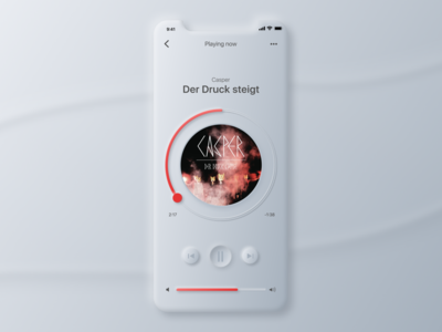 Neomorphism Music Player
