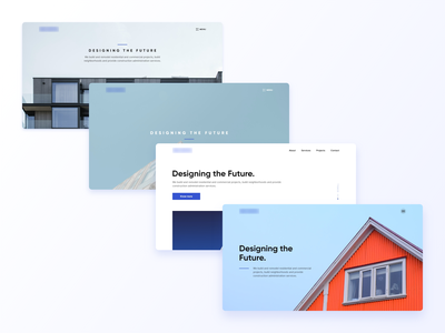 Architectural firm | Hero section exploration minimalism hero construction company architecture explorations hero section layout clean website web design ui  ux ui design