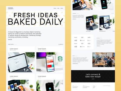 Homepage exploration agency design agency web development digital marketing agency layout clean website web design landing page ui  ux ui design