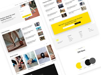 Shoes review | homepage fashion blog design shoes review blog concept layout clean website web design landing page ui  ux ui design