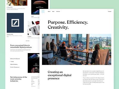 Digital agency | Homepage agency website digital agency concept layout clean website web design landing page ui  ux ui design