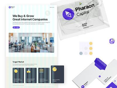 Pharaon Capital | Branding, icons & website grid cards typogaphy colors brand design branding grid layout layout icon design icons design logo website web design ui  ux ui design