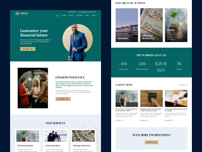 Finance firm homepage heritage investment firm finance concept clean layout landing page website web design ui  ux ui design