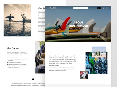 Snow & surf ecomm | About about page mountain ocean snowboard surfboards surfing ecommerce concept landing page clean layout website web design ui  ux ui design