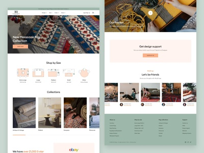 Rugs eCommerce - Homepage rugs ecommerce concept landing page clean layout website web design ui  ux ui design