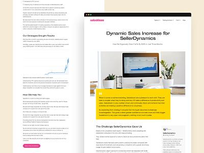 Salesbloom - casestudy sales consultant marketing agency marketing casestudy clean layout website web design ui  ux ui design