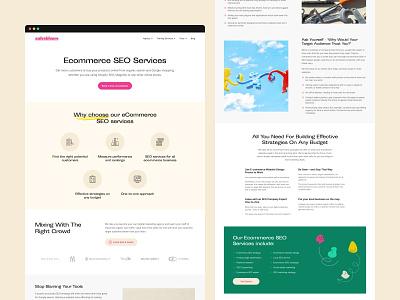 Salesbloom - Service seo agency seo ecommerce consultant marketing agency marketing service clean layout website web design ui  ux ui design