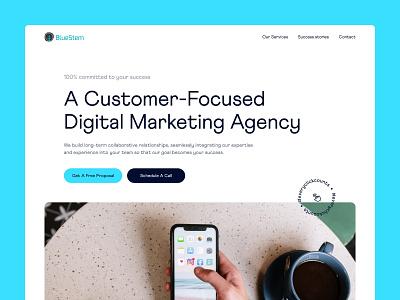 Bluestem everyclickcounts digital marketing agency digital marketing design marketing landing page clean layout website web design ui  ux ui design