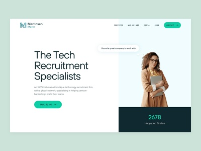 Hero section exploration recruitment firm recruitment specialist job portal tech recuitment landing page design hero section clean layout website web design ui  ux ui design