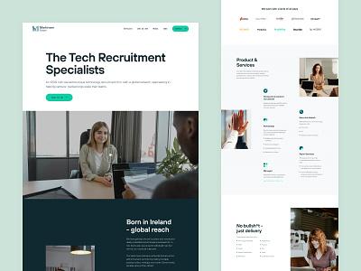 Homepage exploration #2 job portal technology recruitment firm recruitment design landing page clean layout website web design ui  ux ui design