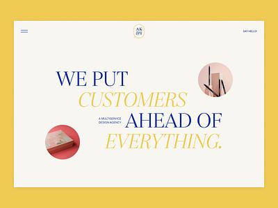 Practice shot minimal hero section serif agency typography design website clean layout web design ui  ux ui design