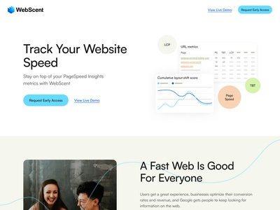 webscent.io track pagespeed pagespeedinsights webste speed design landing page website clean layout web design ui  ux ui design