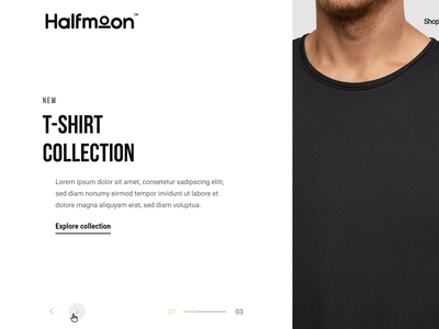 Fashion website: Layout exploration 03 ui design web design website product design layout hero section clean ui  ux fashion landing page