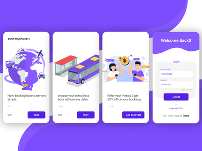 Tickets booking onboarding