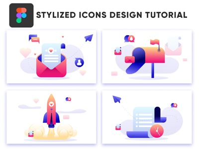 Stylized icons design tutorial in Figma icons design tutorial tutorial tutor icons icons pack iconset iconography icon design tutorial icons design logo design how to figma