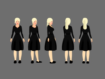 Beautiful girl character design for animate CC animation adobe animate animate cc character turn arounds draw with jazza character design adobe character animator character animator character animation animate cc character rigging character turnarounds 2d animation for beginners animate flash animation tutorials catoon animation tutorials