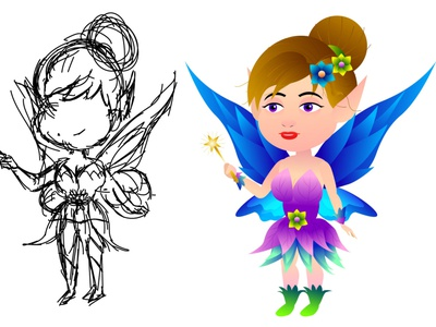 fairy little character design tutorial digital drawing drawing creative art graphic design course gfx mentor soundduck arttutor tutvid little fairy fairy little character design basics character design in illustrator adobe illustrator 2021 tutorials illustration fairy how to draw