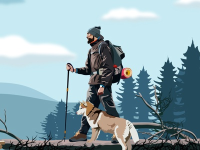Hiking vector art tutorial beginners design designers how to process step by step digital art drawing art illustration illustrator tutorial illustrator adobe illustrator tutorial vector drawing photo to vector photo to cartoon trace photo vector vector art adobe illustrator