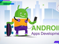 Flat design illustration of Android