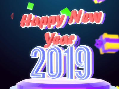 Happy New Year 2019 after effects & element 3D tutorial