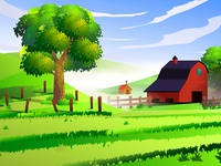 Csrtoon Landscape Vector
