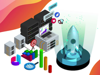 Isometric Web Development Illustration