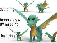 3D character design pipeline Dragon 3d