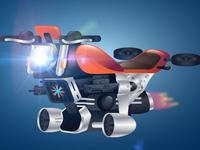 Adobe Illustrator Tutorial: sci-fi hover bike concept design