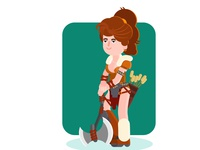 Flat character design for motion graphics