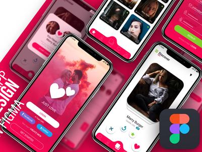 Figma UI design & prototyping tutorial. Dating app  UI kit