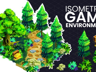 Isometric games design: isometric environment painting