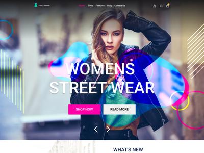 Online fashion store webtemplate design in Figma video tutorials